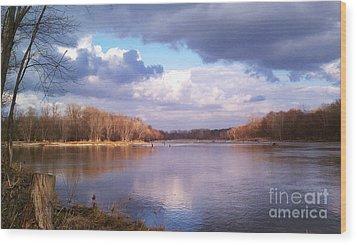 On The River Wood Print by EGiclee Digital Prints
