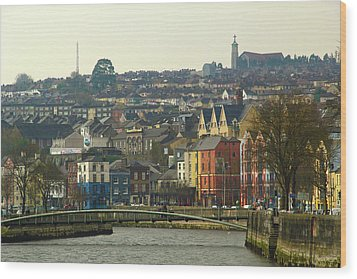 Wood Print featuring the photograph On The River Lee, Cork Ireland by Marie Leslie