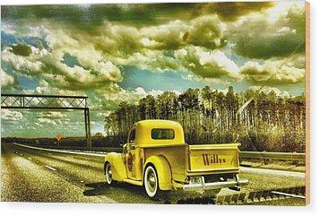 On The Road Again Wood Print by Carlos Avila
