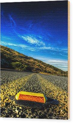 On The Road Again Wood Print by Sarita Rampersad