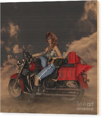 Wood Print featuring the digital art On The Road Again by Shanina Conway