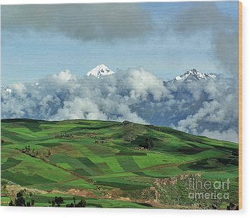 On The Road From Cusco To Urubamba Wood Print by Michele Penner