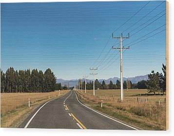 Wood Print featuring the photograph On The Road by Gary Eason