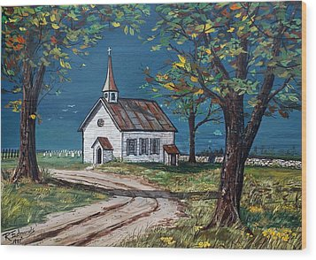 On The Road Home Wood Print by Raymond Edmonds
