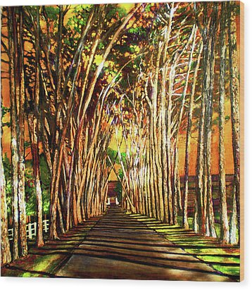 On The Road Wood Print by Michael Durst