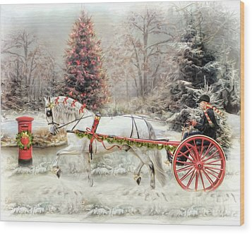 Wood Print featuring the digital art  On The Road To Christmas by Trudi Simmonds