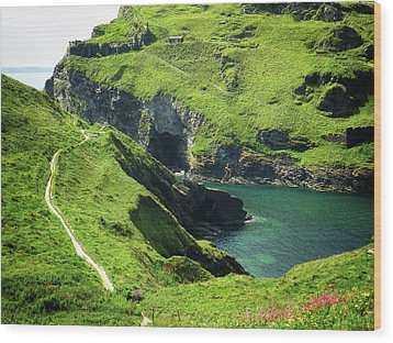 Wood Print featuring the photograph On The Road To Tintagel by Connie Handscomb