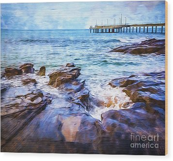 Wood Print featuring the photograph On The Rocks by Perry Webster