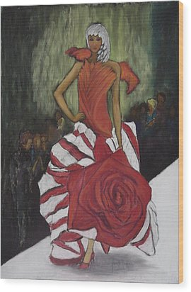 On The Runway Wood Print by Annette Kagy