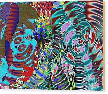 On The Same Wavelength Wood Print by Navo Art