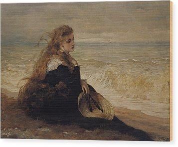 On The Seashore Wood Print