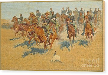 On The Southern Plains Frederic Remington Wood Print by John Stephens
