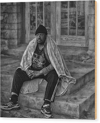 On The Steps Of Gods' House Wood Print by Kelly Rader