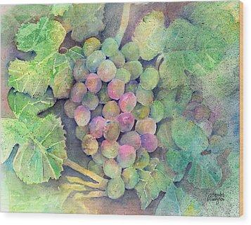 On The Vine Wood Print by Arline Wagner