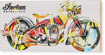 Wood Print featuring the painting On The Warpath Signed Ed. 20 by Charlie Spear