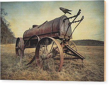 Wood Print featuring the photograph On The Water Wagon - Agricultural Relic by Gary Heller