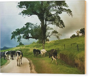 On The Way Home  Wood Print by Elaine Manley