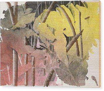 On The Way Wood Print by Jackie Mueller-Jones