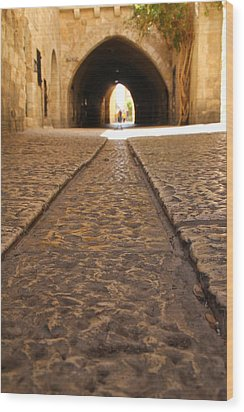 On The Way To The Western Wall - The Kotel - Old City, Jerusalem, Israel Wood Print by Yoel Koskas