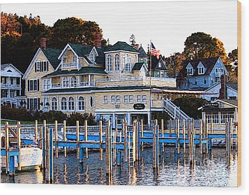 On The Wharf Wood Print