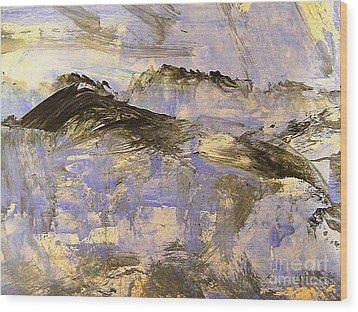 On Top Of The World Wood Print by Nancy Kane Chapman