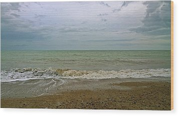 Wood Print featuring the photograph On Weymouth Beach by Anne Kotan
