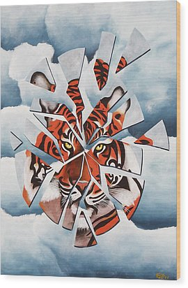 Once I Was A Tiger Wood Print by Poul Costinsky