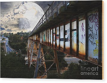 Wood Print featuring the photograph Once Upon A Time In Any Town Usa by Wingsdomain Art and Photography