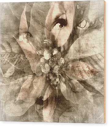 Once Upon Grandmom's Poinsettia Wood Print