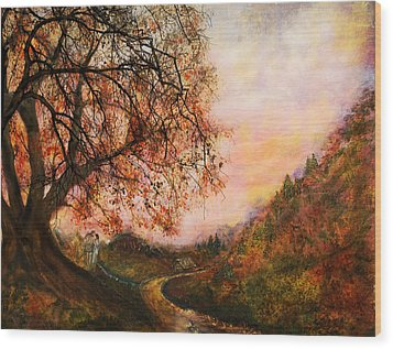 Once Upon October Wood Print by Patricia Motley