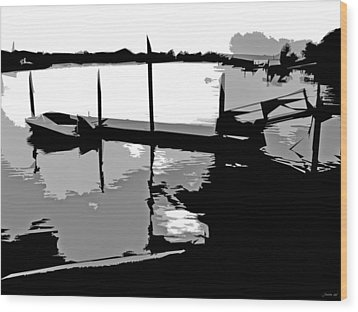 One Boat Wood Print