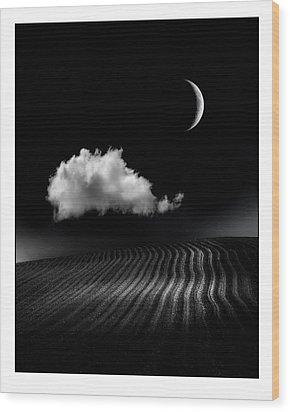 One Cloud Wood Print by Mal Bray