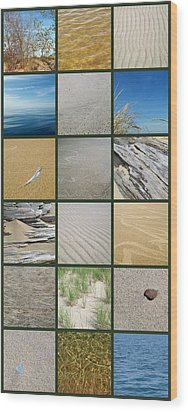 One Day At The Beach Ll Wood Print by Michelle Calkins