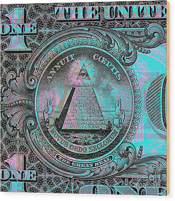 One-dollar-bill - $1 - Reverse Side Wood Print
