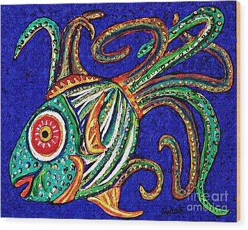 One Fish Wood Print by Sarah Loft