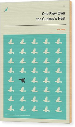 One Flew Over The Cuckoos Nest Wood Print