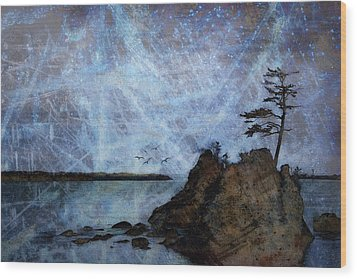 One Grace Wood Print by Carol Leigh