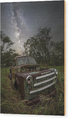 Wood Print featuring the photograph One Headlight  by Aaron J Groen