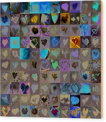 One Hundred And One Hearts Wood Print by Boy Sees Hearts