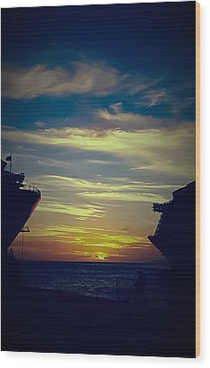 Wood Print featuring the photograph One Last Glimpse by DigiArt Diaries by Vicky B Fuller