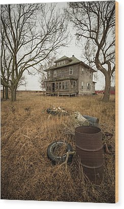 Wood Print featuring the photograph One Man's Trash... by Aaron J Groen