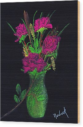 One More Rose Wood Print by Thomas J Norbeck