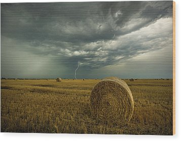 Wood Print featuring the photograph One More Time A Round by Aaron J Groen