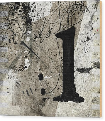 Wood Print featuring the mixed media One Off The Counter by Carol Leigh