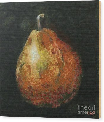 One Pear Wood Print by Dragica  Micki Fortuna