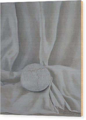 One Pebble Wood Print