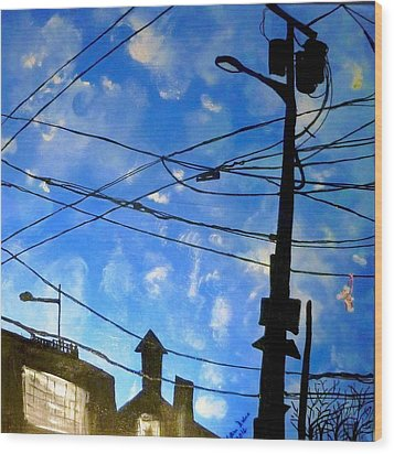 One Philly Sky Wood Print