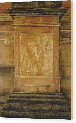 One Pillar ...of The The Lions Of Leon Wood Print by Shirley McMahon