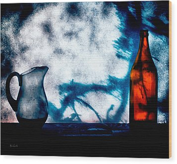 One Red Bottle Wood Print by Bob Orsillo