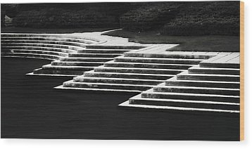 One Step At A Time Wood Print by Eduard Moldoveanu